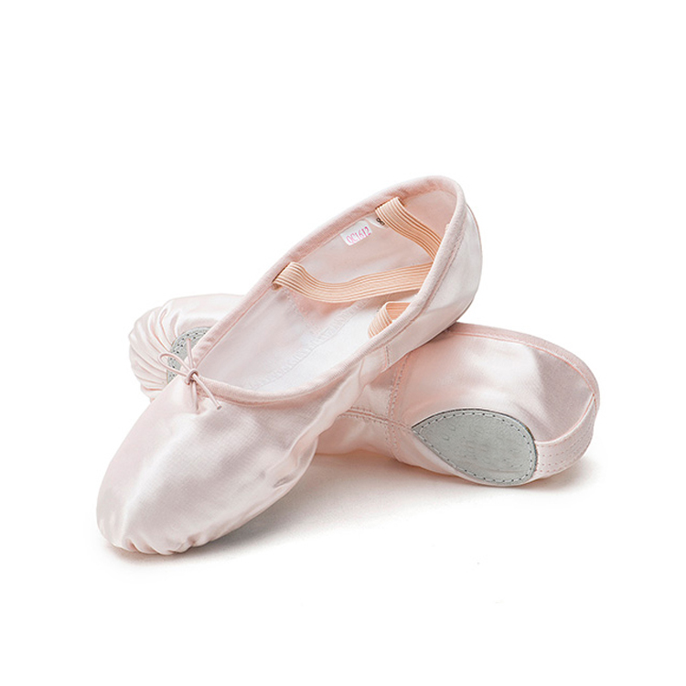 S5027 Satin women flat ballet dance shoes wholesale ballet flat shoes dance shoes