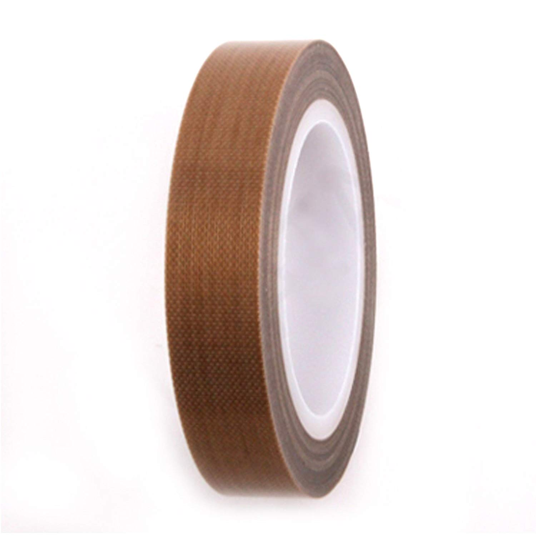 2x 19mm x20m White Teflon Tape Adhesive PTFE Heat Resistant Nonstick Insulation