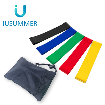 Wholesale Resistance Loop Exercise Bands Set of 5 with bag