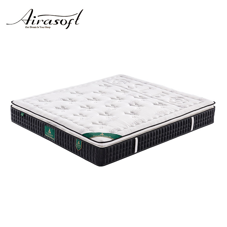 High grade knitted fabric gel memory foam bed mattress topper
