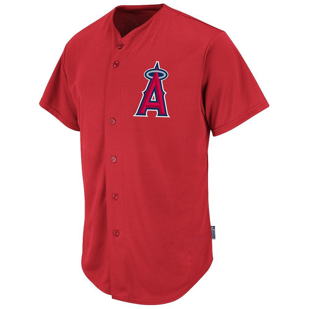 7a53d12fe14 Get Quotations · Los Angeles Angels MLB Youth Full-Button Cool Base Jersey