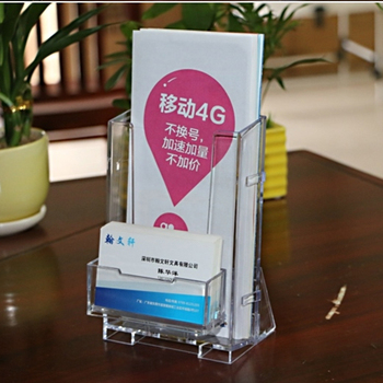 Commercial Use Tabletop Menu Stand Business Card Holder Acrylic