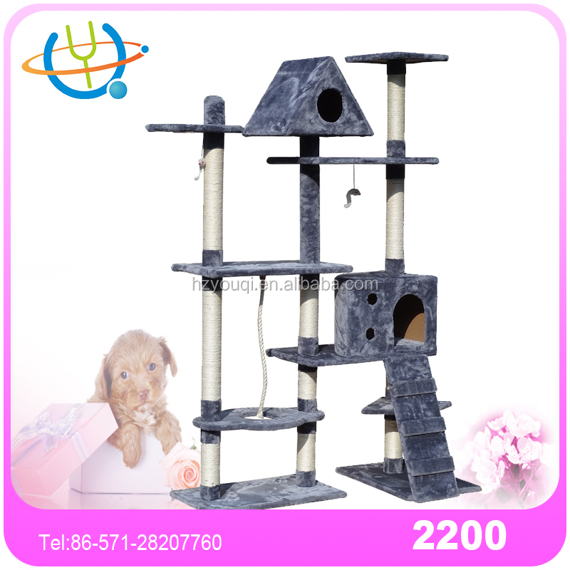 Fashion Delicate Artificial Indooe Bamboo Cat Tree Large Cat Trees Image