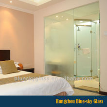 European standard cut to size frosted living room glass partition with low price and certification