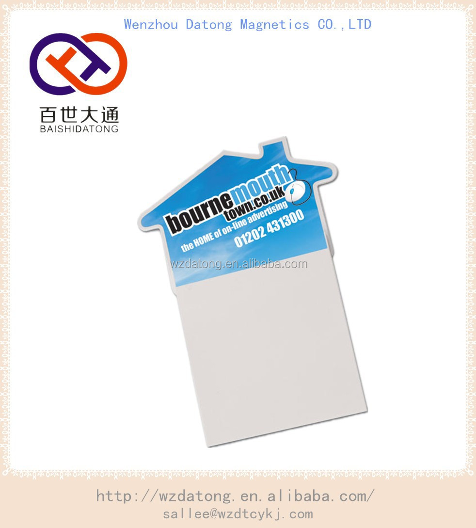 sticky memo pad/magnetic notepad/fridge magnet note pad