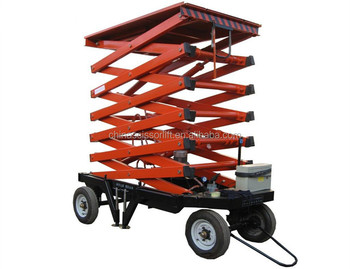 Height Small Auto Mobile Elevator Hydraulic Scissor Lift Wly0 5 10