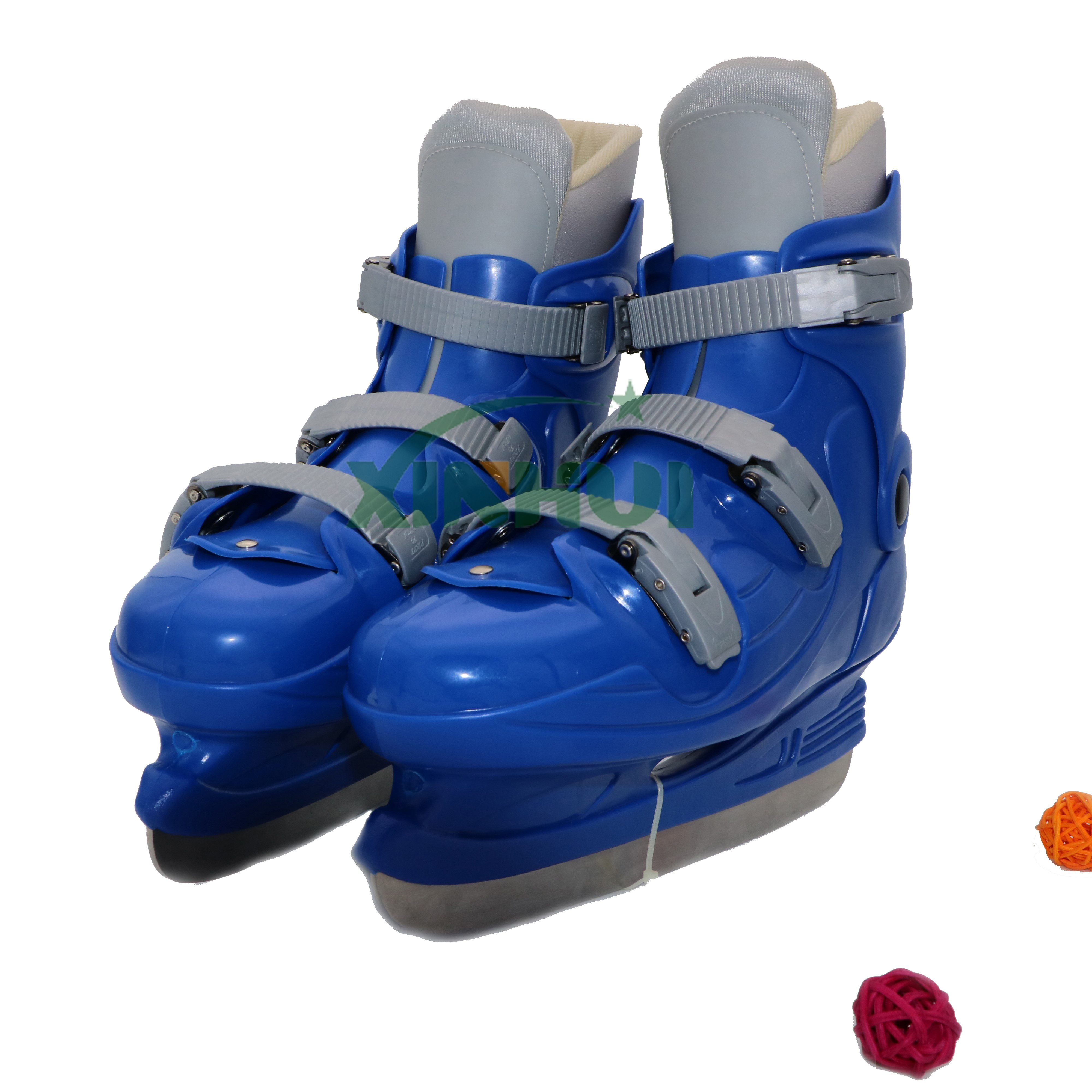 Premium Adjustable Ice Skates for Girls and Boys, Awesome BlueColor, Super Comfortable Padding and Reinforced Ankle Support