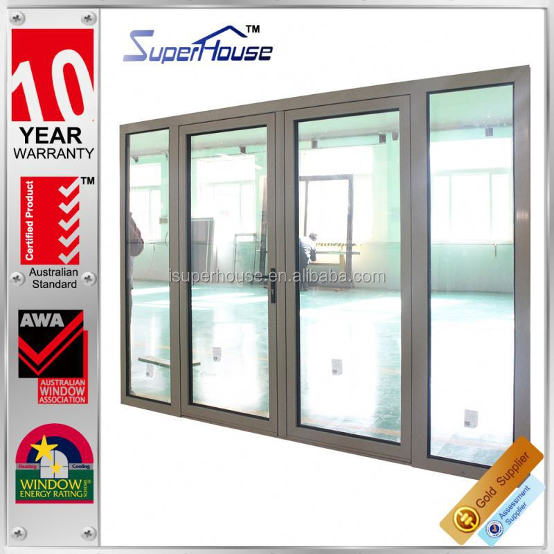 sound proof and weather proof Luxury tempered safety glass hinges swing casement door