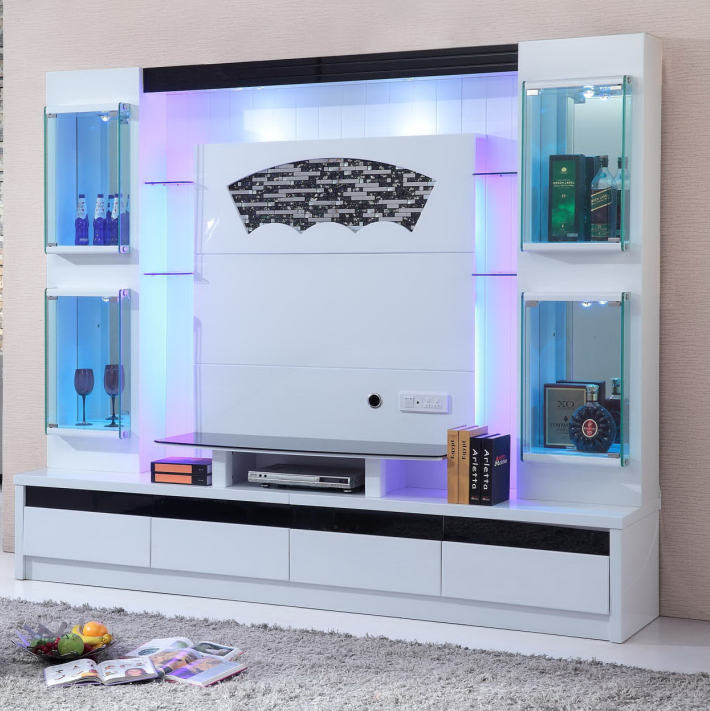 Living room furniture simple tv stand wood wall unit tv cabinet modern