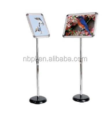 Advertising A4 Floor Sign Stand adjustable height poster stand