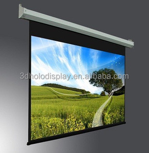 "250 "" Ceiling Mount Large Electric Projection Screen Motorised Projector Screen"
