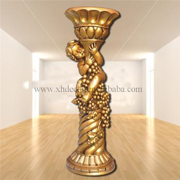 Frp Decoration Roman Column Pillar Pu Home Decor Wedding Pedestal Columns