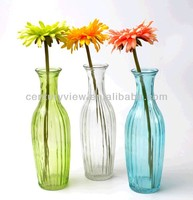 cheap machine made colored glass cemetery vases