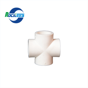 Flange Fitting PPR Cross Pipe Fitting for Hot and Cold Water