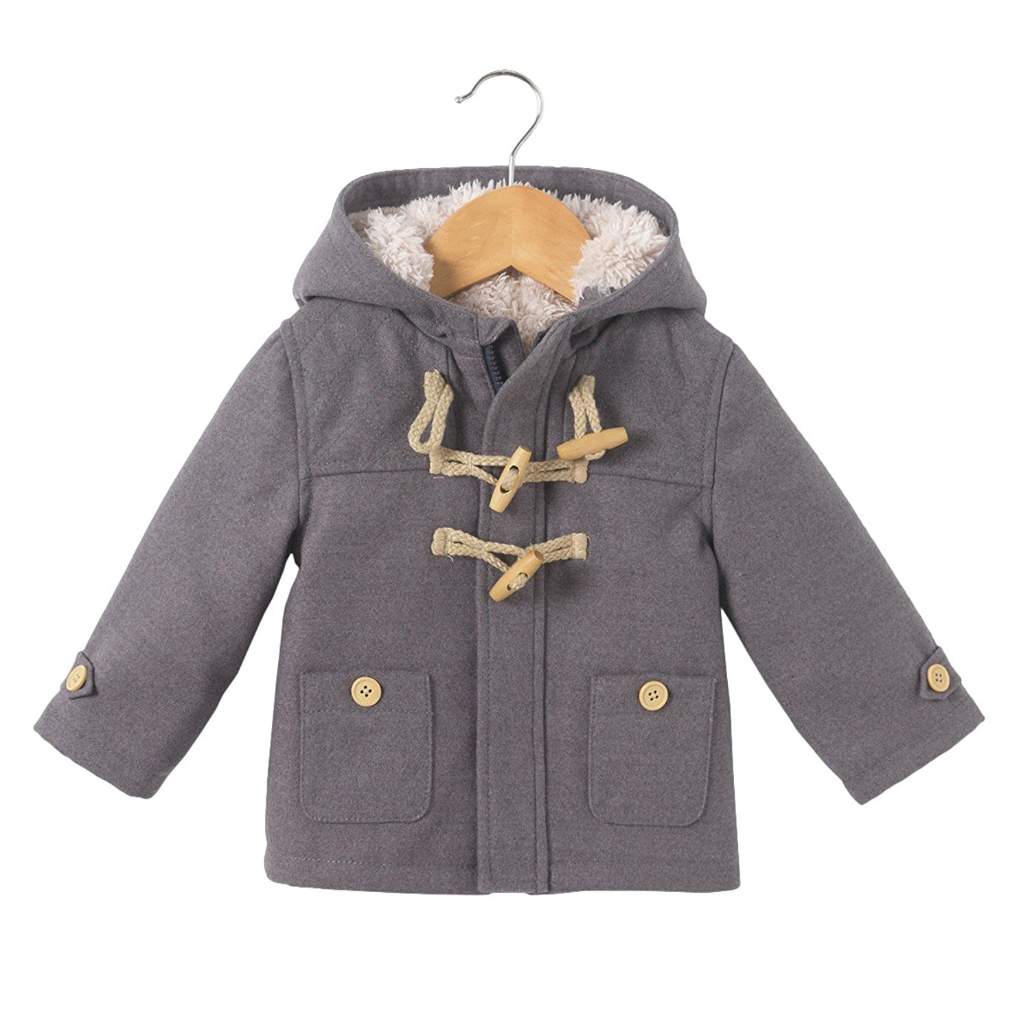 La Redoute Collections Big Boys Parka with Faux Fur Hood 3 Months-3 Years