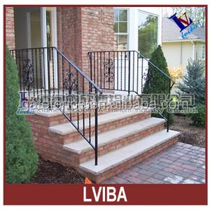 Decotative wrought iron handrail & exterior handrail lowes