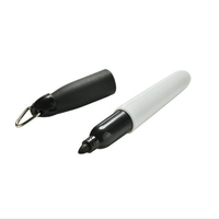 Black Mini permanent marker With Cap Clip Keychain