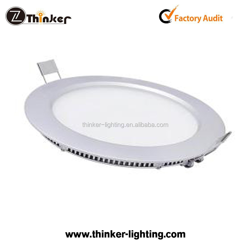Thinker recessed/surface mounted small round led panel 6w 12w 18w 24watt slim square led panel light