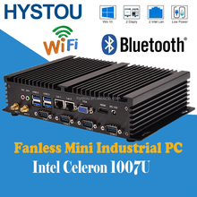 Powerful Mini Industrial PC Desktop Computers With 4G RAM 128G SSD Fanless Computer Support Win7,8,10 OS