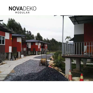 prefabricated house villa set prices flat roof portable steel building luxury kits prefabricated houses villa