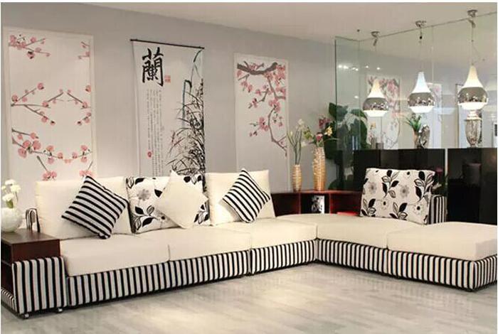 Whtite And Black Living Room Furniture,Modern Furniture ...