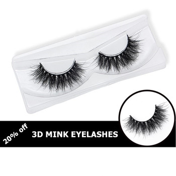 1 pair handmade fake eye lashes natural false 3D mink eyelashes