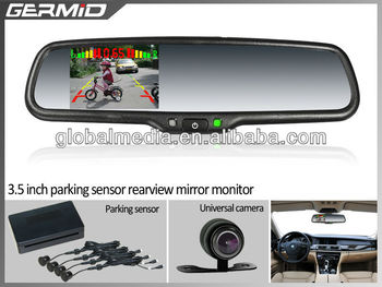 2013 hot 4 3 inch digital rear view mirror car monitor with park assist device buy car lcd. Black Bedroom Furniture Sets. Home Design Ideas