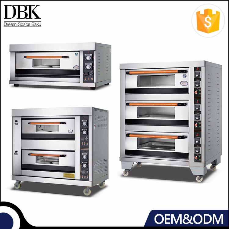 DBK Factory Industrial Cheap prices Kitchen Bakery Equipment 1 2 3 Deck stainless steel commercial electric baking oven