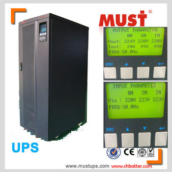 3 phase 20kva to 40kva high frequency design dual input ups