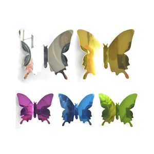 Fairy Season Wall Art Sticker Acrylic 3D Butterfly Mirror Effect Wall For Kid Room Home Decal