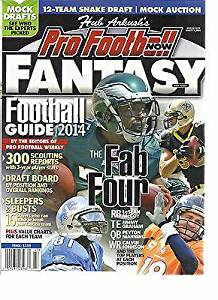 PRO FOOTBALL NOW FANTASY FOOTBALL GUIDE FALL ISSUE, 2014 ( THE FAB FOUR )