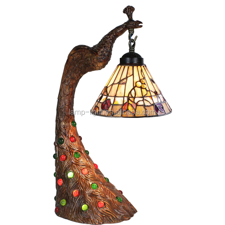 8 Inch Tiffany Style Table Lamp S16708t15 Antique Flower Stained ...