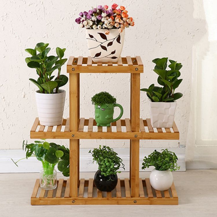bamboo flower pot holder