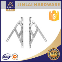 New type square groove stainless steel 4 bar hinge