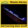 new technology car led moving door scuff light for Mazda Atenza