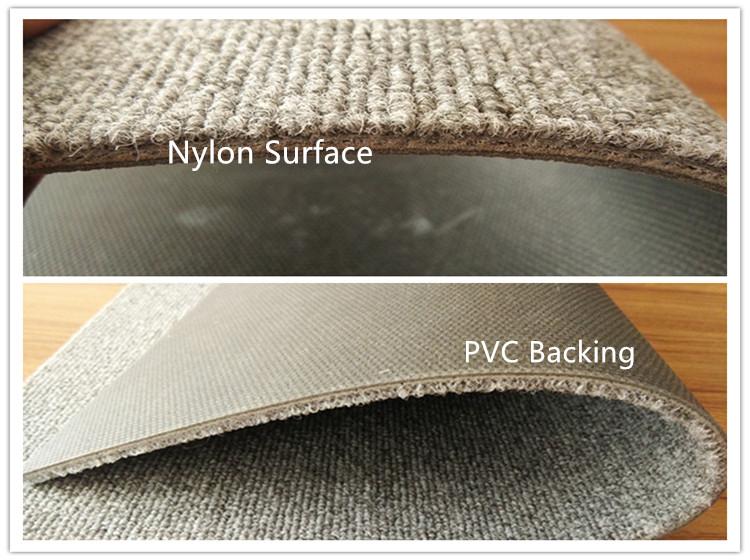 簡単にきれいなストライプ商業ルーム PVC ビチューメンタイルカーペット