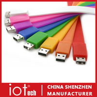 Cheap Wristband Rubber USB Flash Disk in Full Colors
