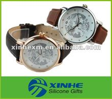 fashion leather wrist watch for men