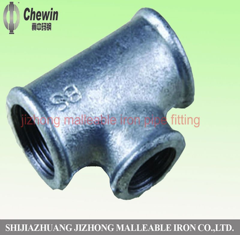 plumbing galvanized malleable pipe fitting tee