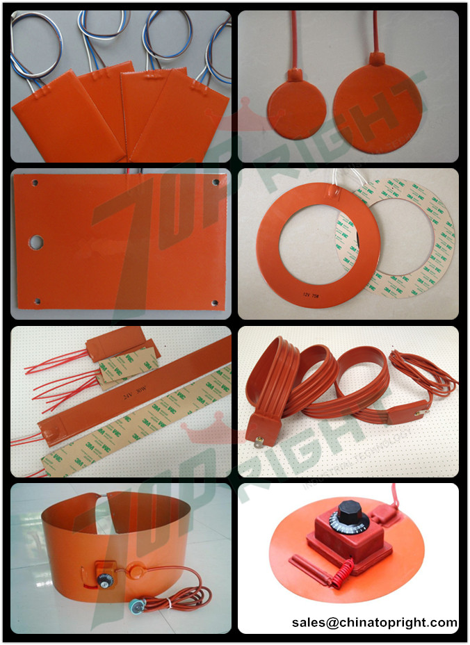silicone rubber heaters from china topright Industrial