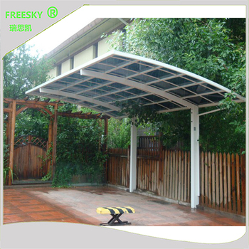 polycarbonate roof sheet metal structure cantilever car shed shelter shade garage parking aluminum carport canopy & polycarbonate roof sheet metal structure cantilever car shed shelter ...