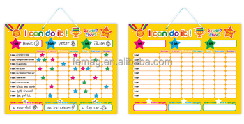 E1002 Wholes Top Quality Magnetic Learning Behavior Chart For Home Study