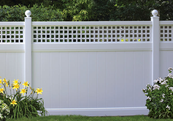 Pvc Privacy Fence With Lattice Top Buy Pvc Privacy Fence