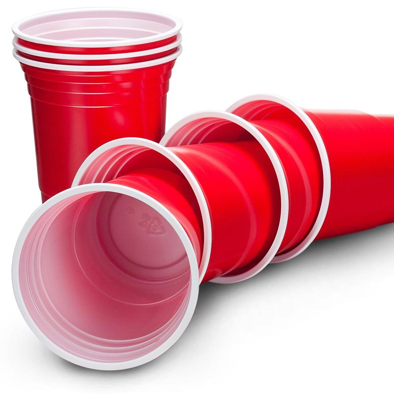 Herbruikbare Wegwerp Plastic Rode Kopjes Wegwerp Plastic