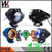 WEIKEN 15 W motosiklet bullet <span class=keywords><strong>led</strong></span> far moto projektör demon eyes farlar