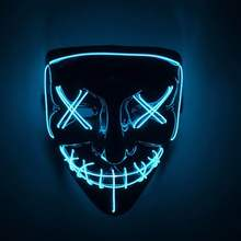 Hot Halloween <span class=keywords><strong>Máscara</strong></span> <span class=keywords><strong>Neon</strong></span> LED Light up <span class=keywords><strong>Máscara</strong></span> <span class=keywords><strong>Máscara</strong></span> De Purga