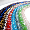 lampwork hollow crystal Rondelle glass beads loose glass beads