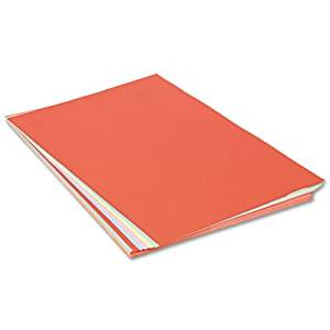 Assorted Colors Tagboard, 36 x 24, Blue/Canary/Green/Orange/Pink, 100/Pack, Sold as 100 Sheet