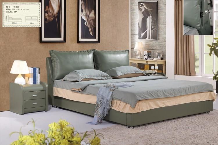 Plataforma Marco De La Cama Con Usb Cuero Loft Dormitorio Muebles ...