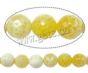 wholesale faceted round yellow fire agate bead onyx stone price